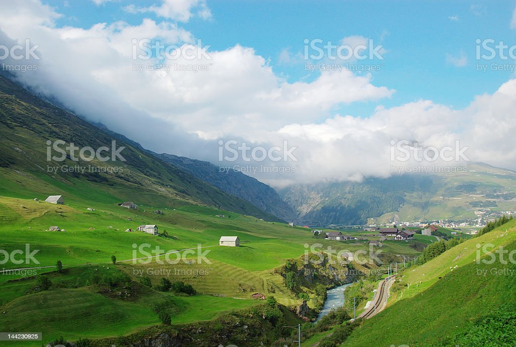 Countryside swiss landscape royalty-free stock photo