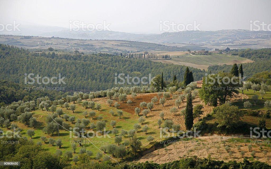 Countryside Tuscany royalty-free stock photo