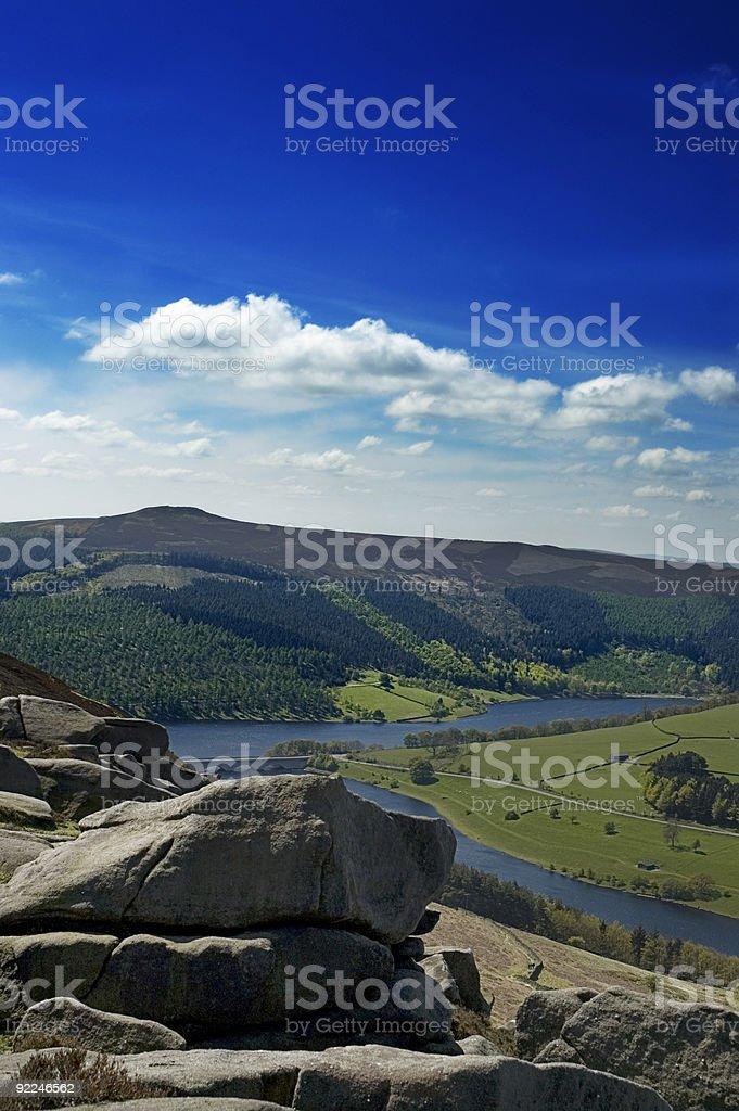 Countryside View - Ladybower Reservoir stock photo