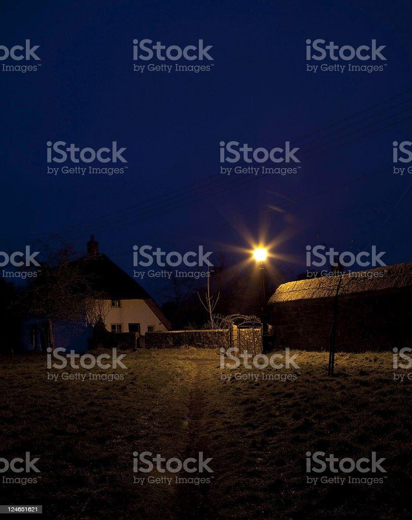 countryside way at night royalty-free stock photo