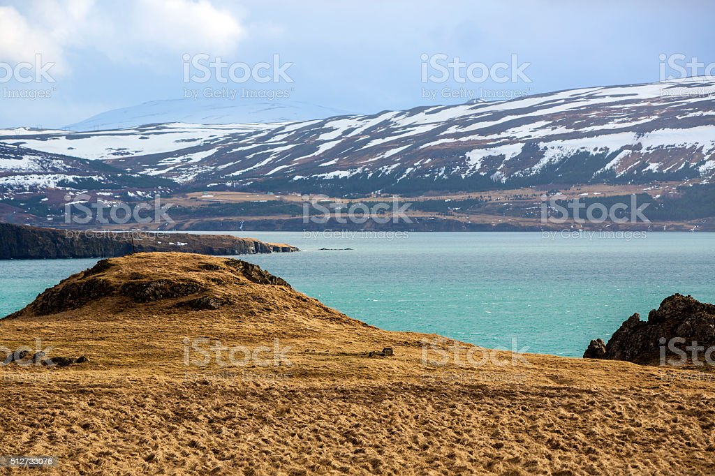 Countryside West Iceland stock photo