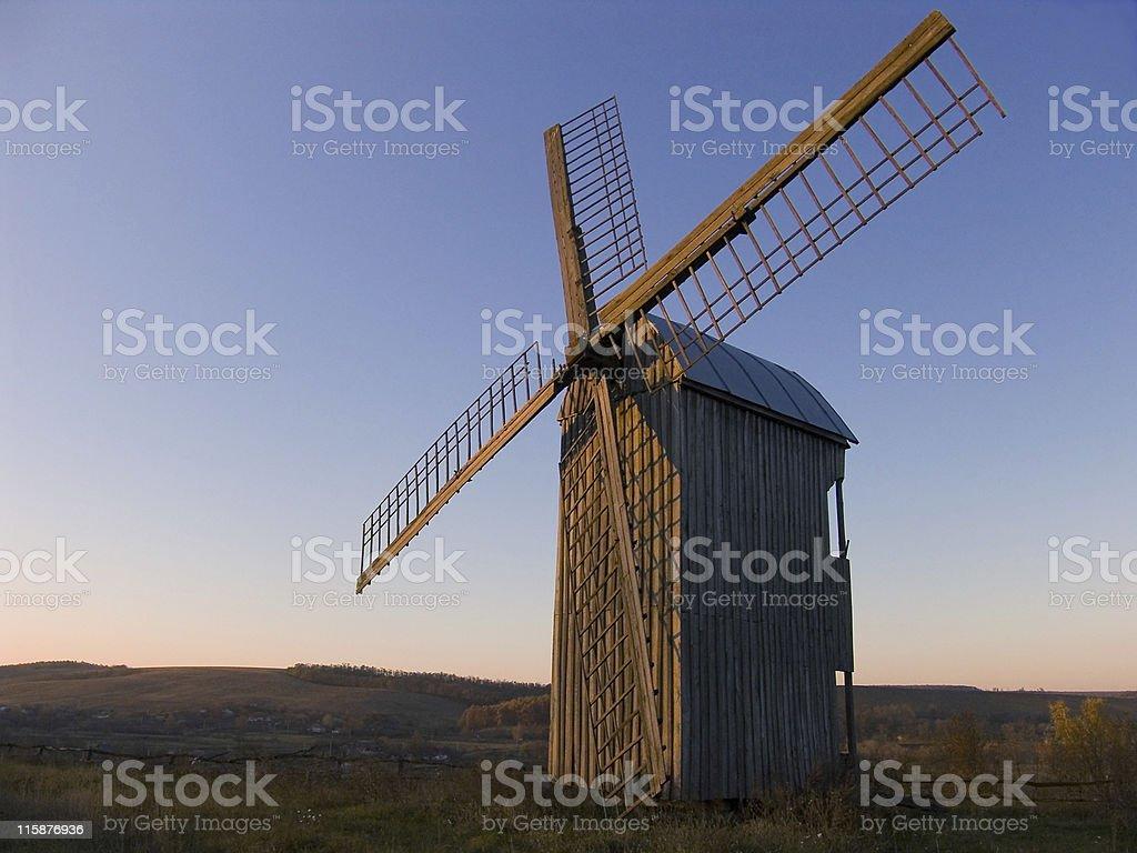 Countryside windmill stock photo
