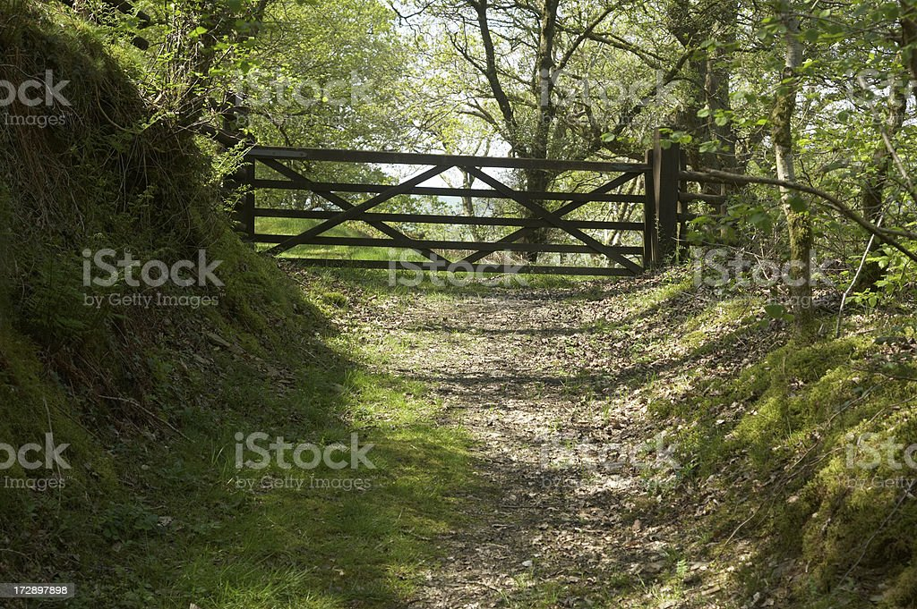 Countryside wooden gate royalty-free stock photo