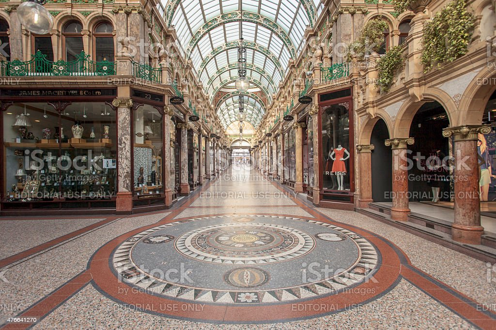 County Arcade in Leeds, West Yorkshire stock photo