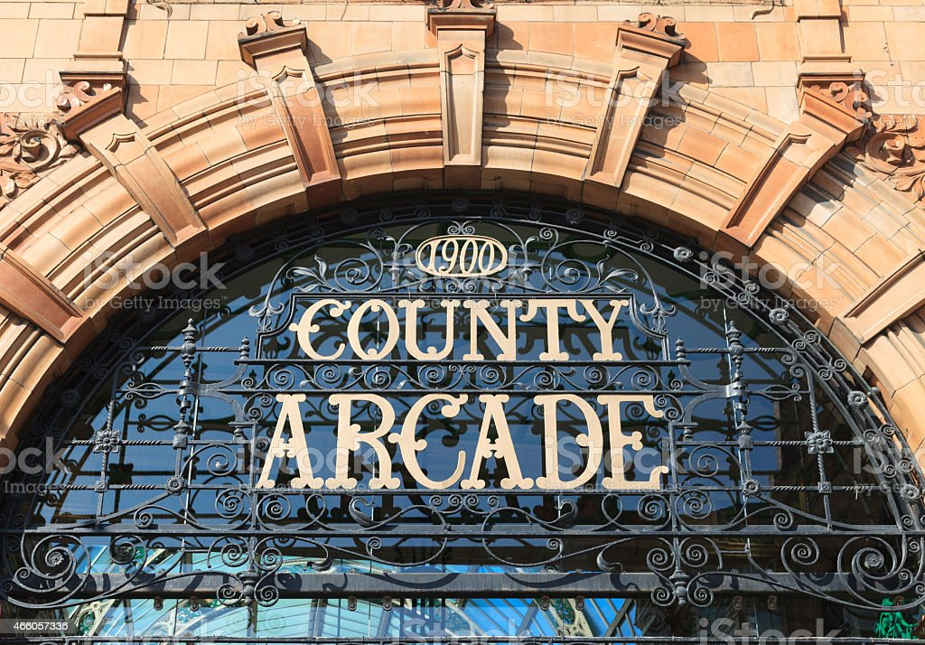 County Arcade in the Victoria Quarter, Leeds stock photo