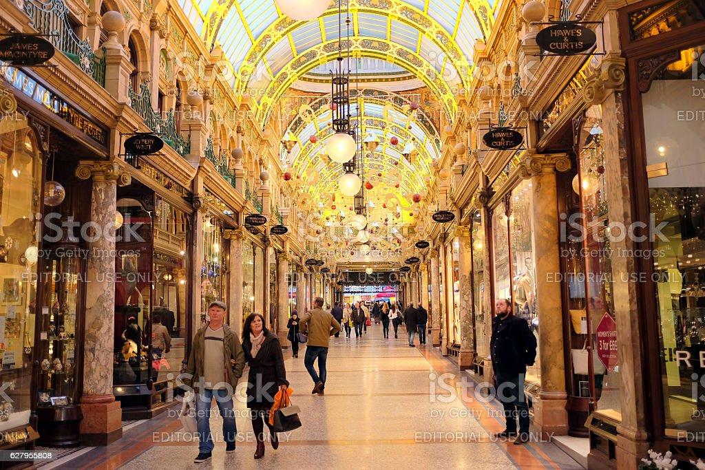 County Arcade, Leeds. stock photo