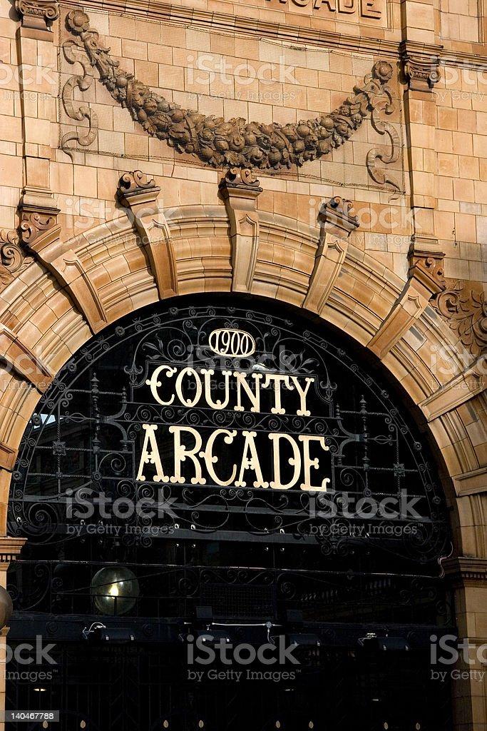 County Arcade Victoria Quarter Leeds royalty-free stock photo