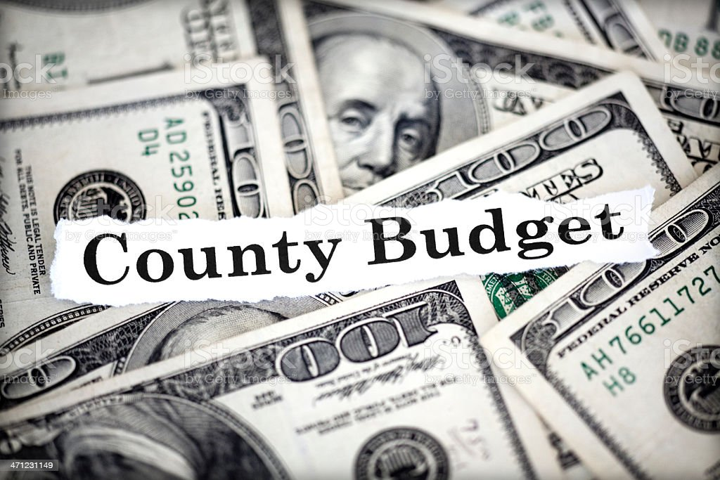 County Budget royalty-free stock photo