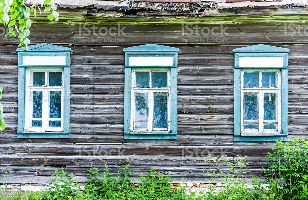 County Cabin Wall stock photo
