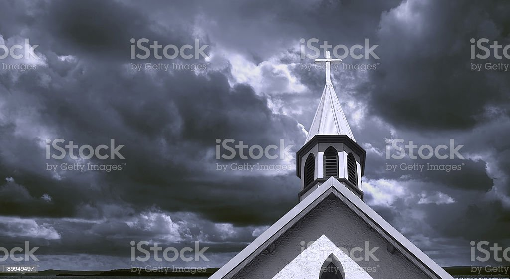 County Church Spier royalty-free stock photo
