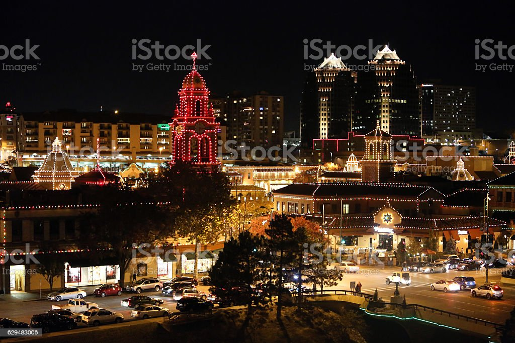County Club Plaza Kansas City Christmas Lights stock photo