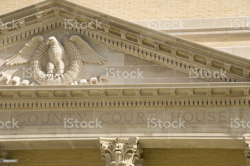 County Court House in Florida royalty-free stock photo