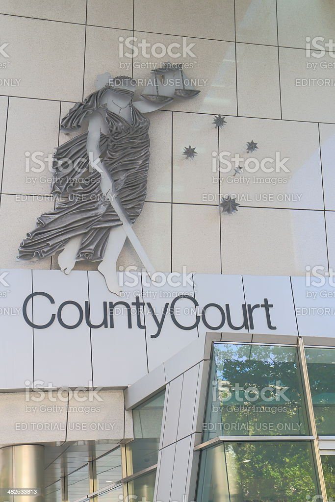 County Court Melbourne stock photo
