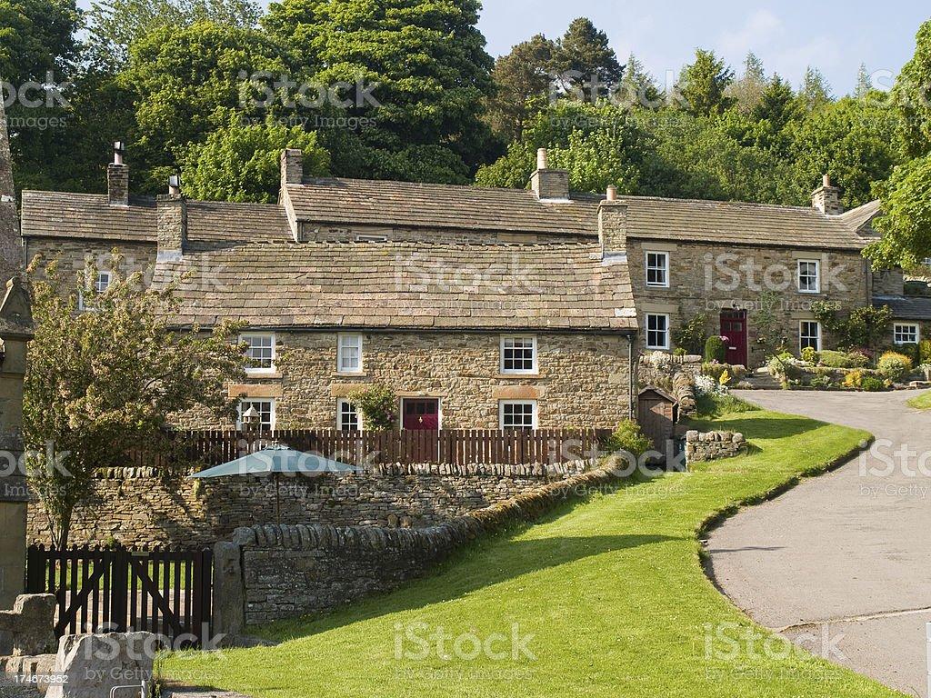 County Durham  picturesque stone village stock photo