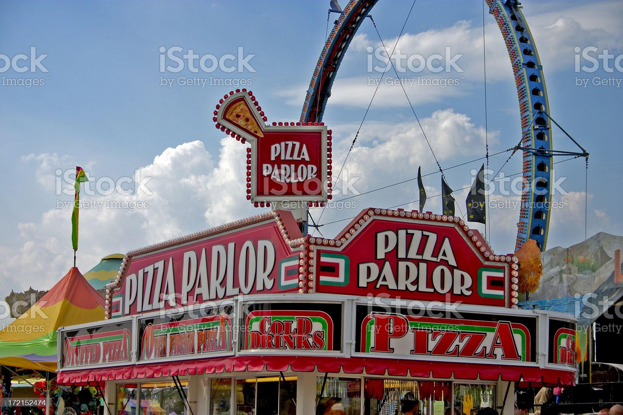 County Fair Pizza royalty-free stock photo
