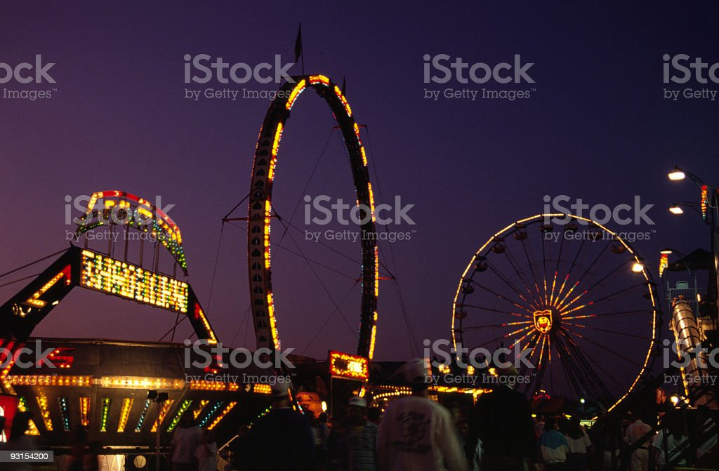 County Fair Rides royalty-free stock photo