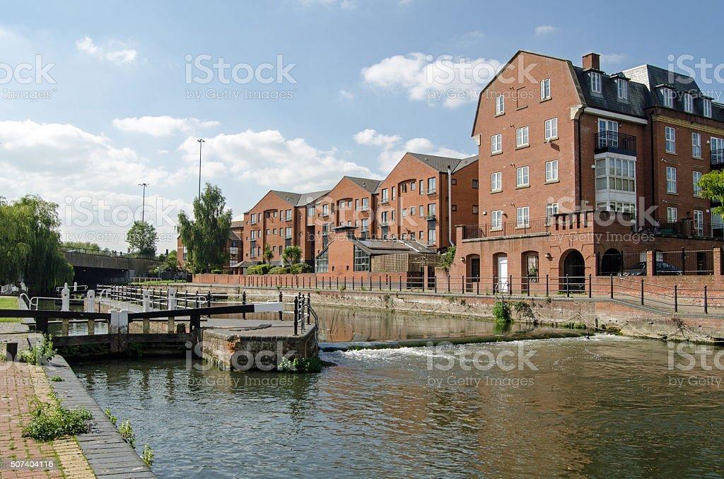 County Lock, Reading, Berkshire stock photo