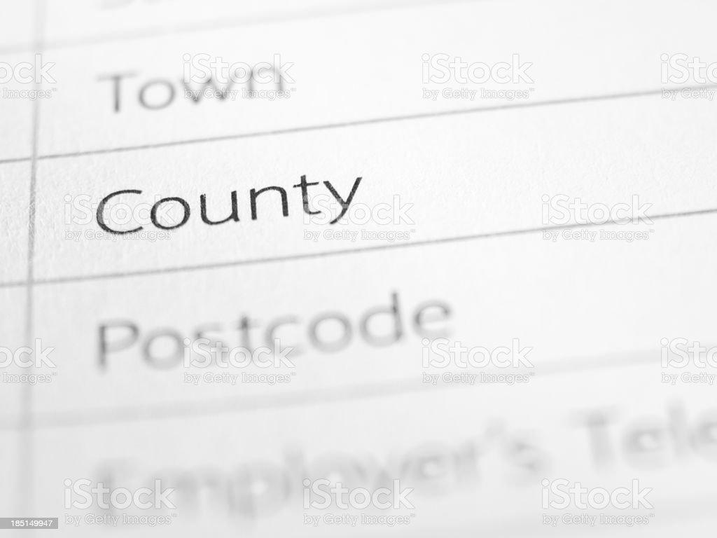County stock photo