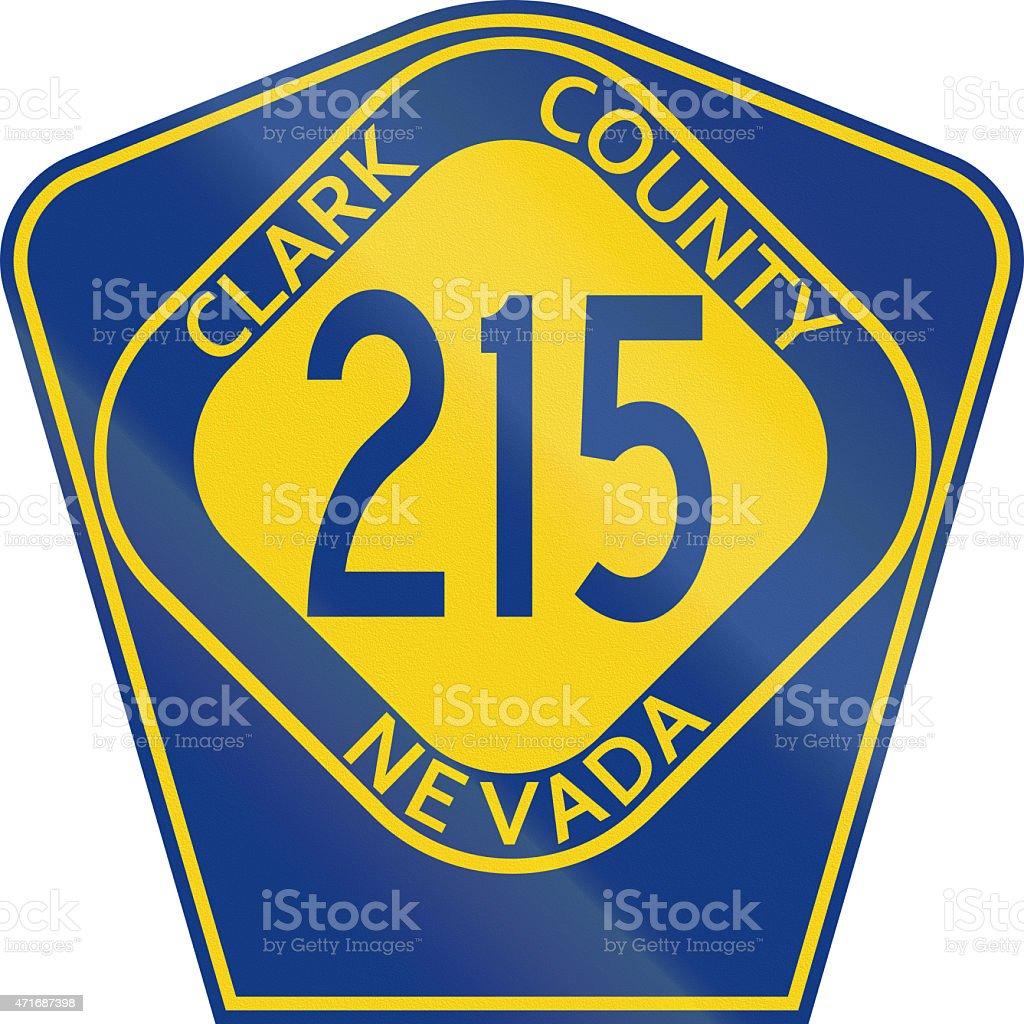 County Route Shield - Clark County - Nevada stock photo