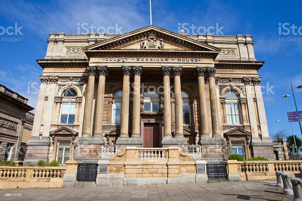County Sessions House in Liverpool stock photo