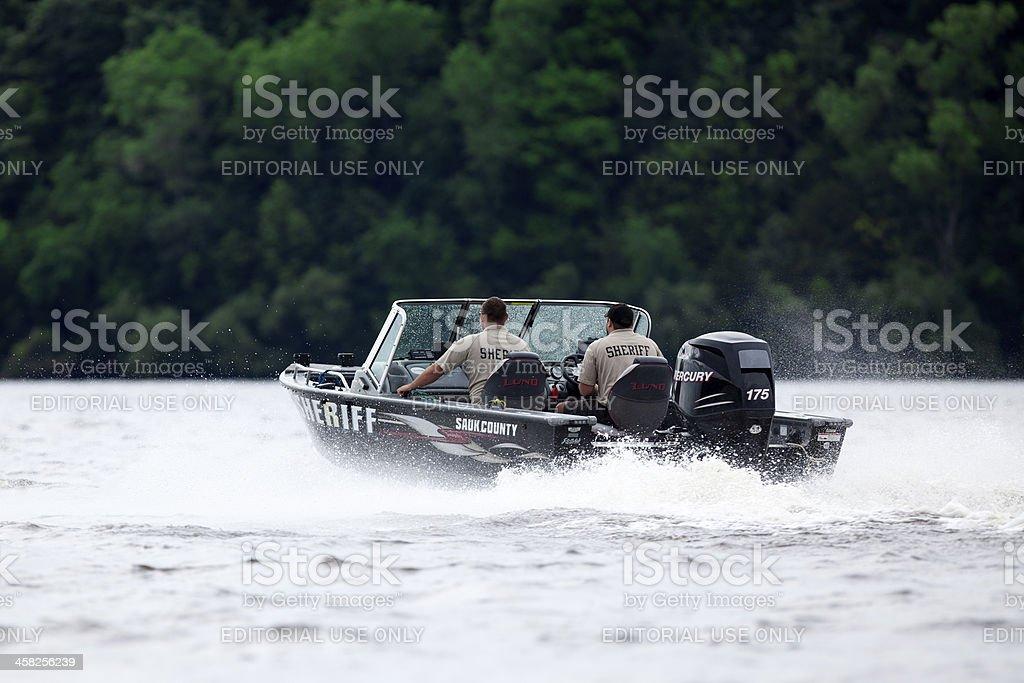 County Sheriffs Patrol Boat royalty-free stock photo