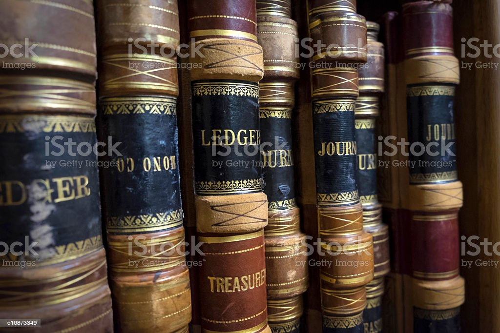 County Treasurer's books stock photo