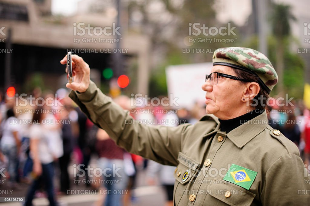 Coup in Brazil stock photo