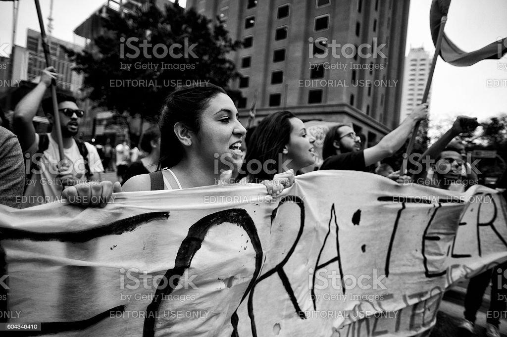 Coup in Brazil stock photo