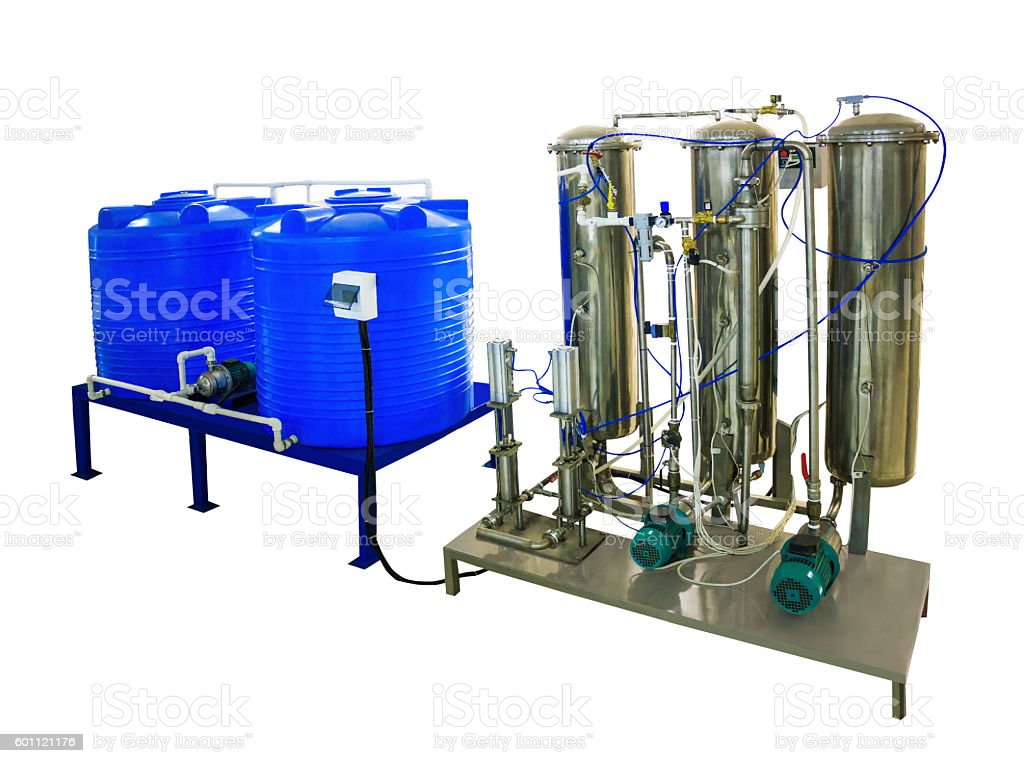 coupage tank and mixer carbonator stock photo