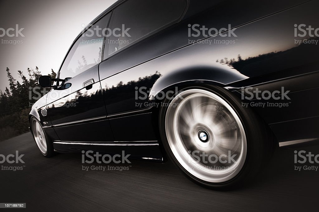 Coupe at Speed stock photo