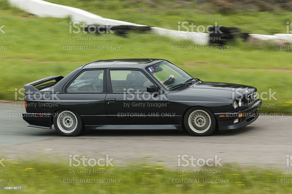 BMW M3 Coupe at Speed royalty-free stock photo