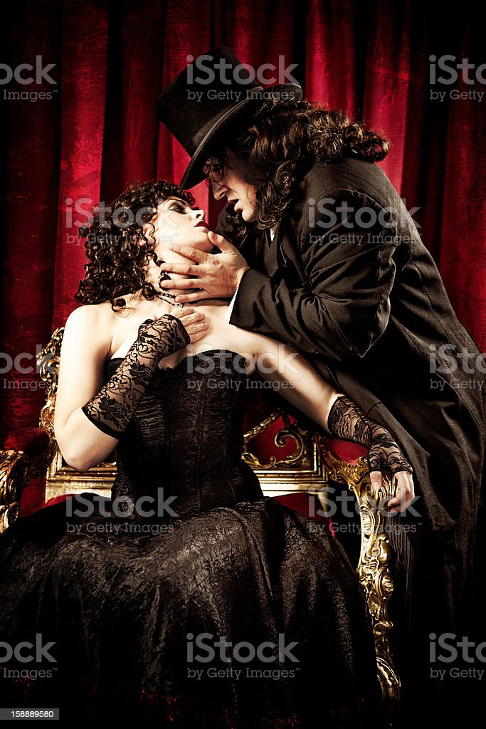 Couple Acting in the Theater royalty-free stock photo