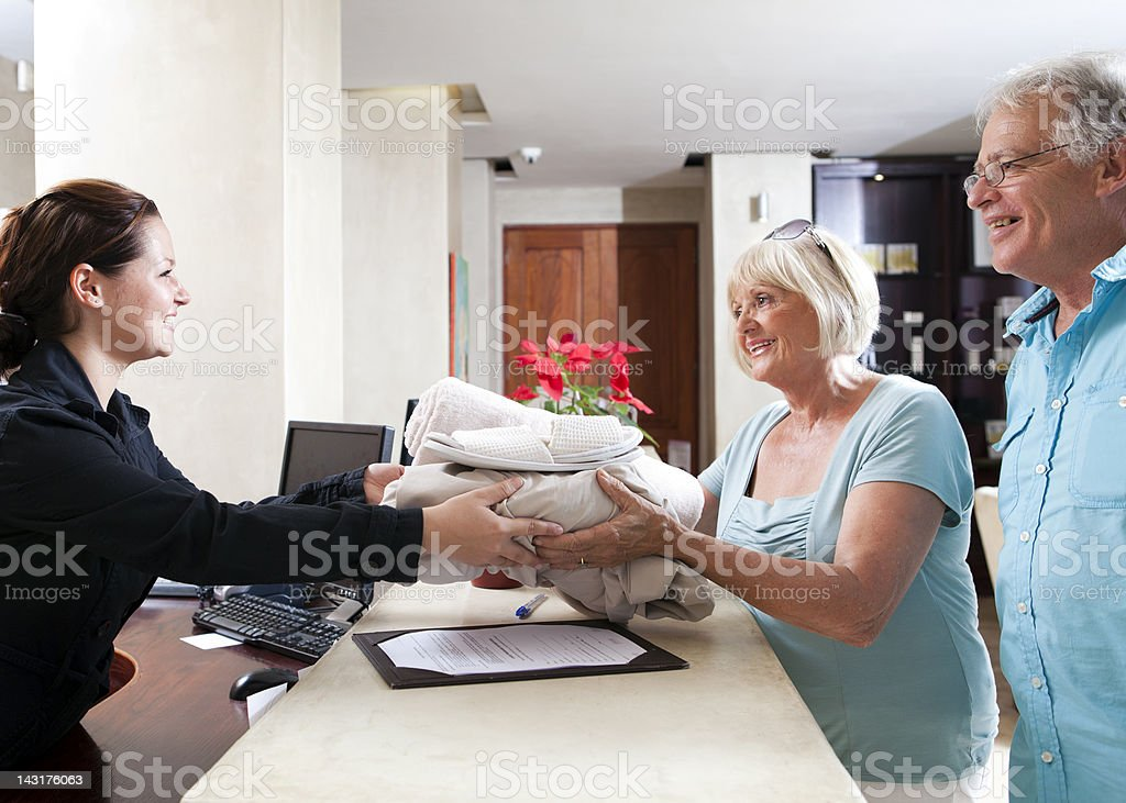 Couple and spa stock photo