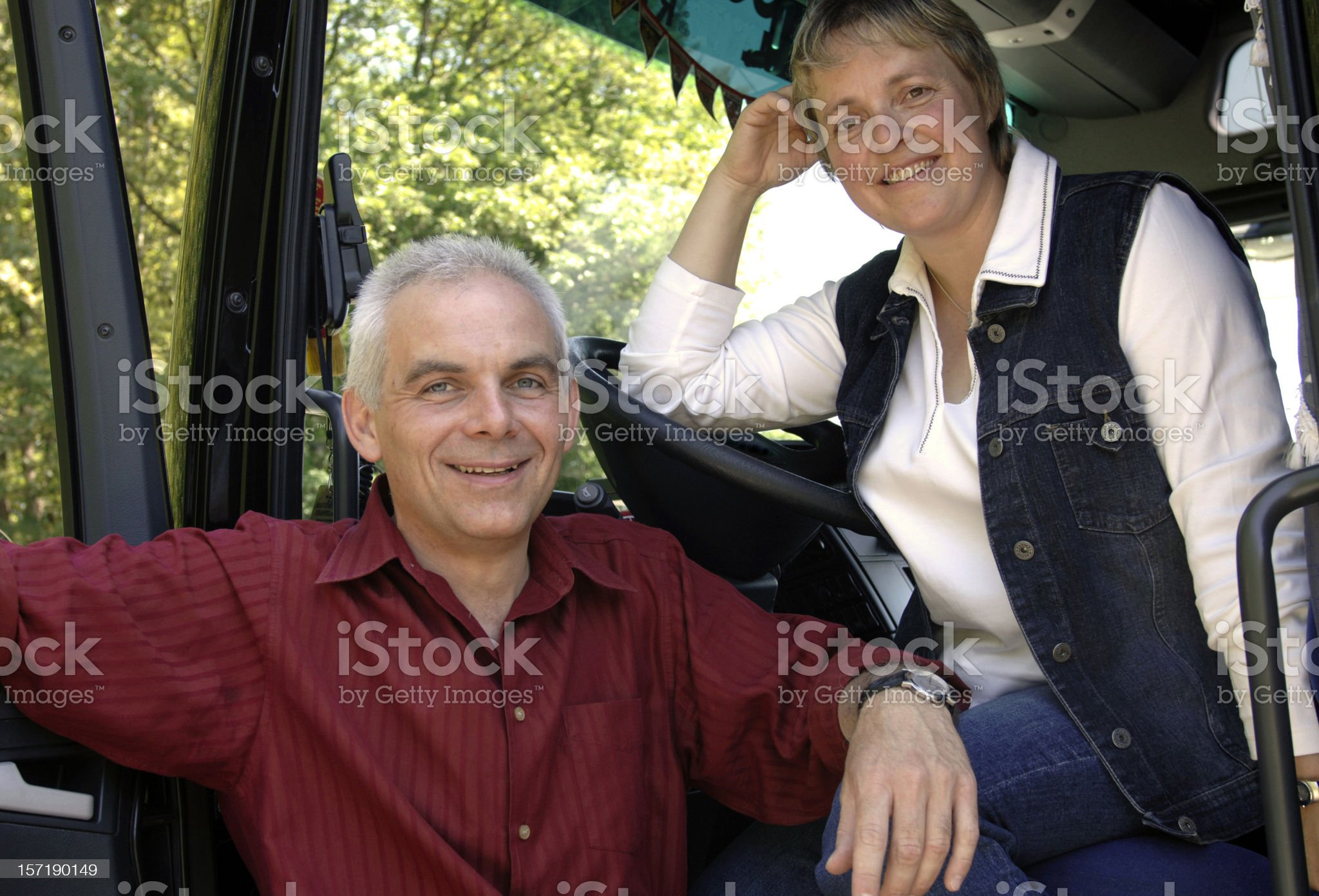 Couple and truck series royalty-free stock photo