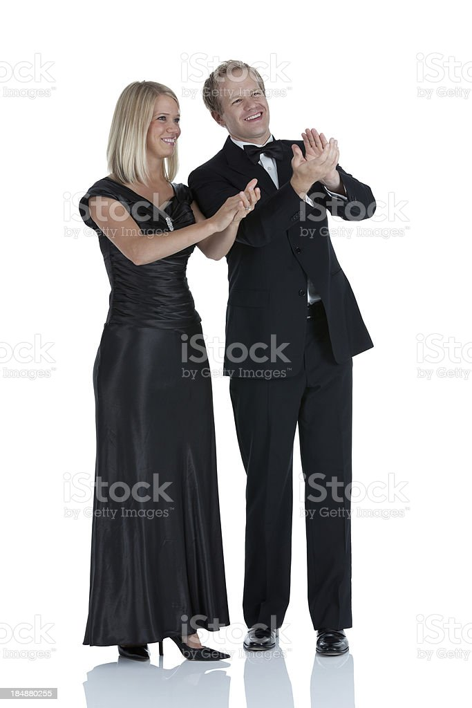 Couple applauding royalty-free stock photo
