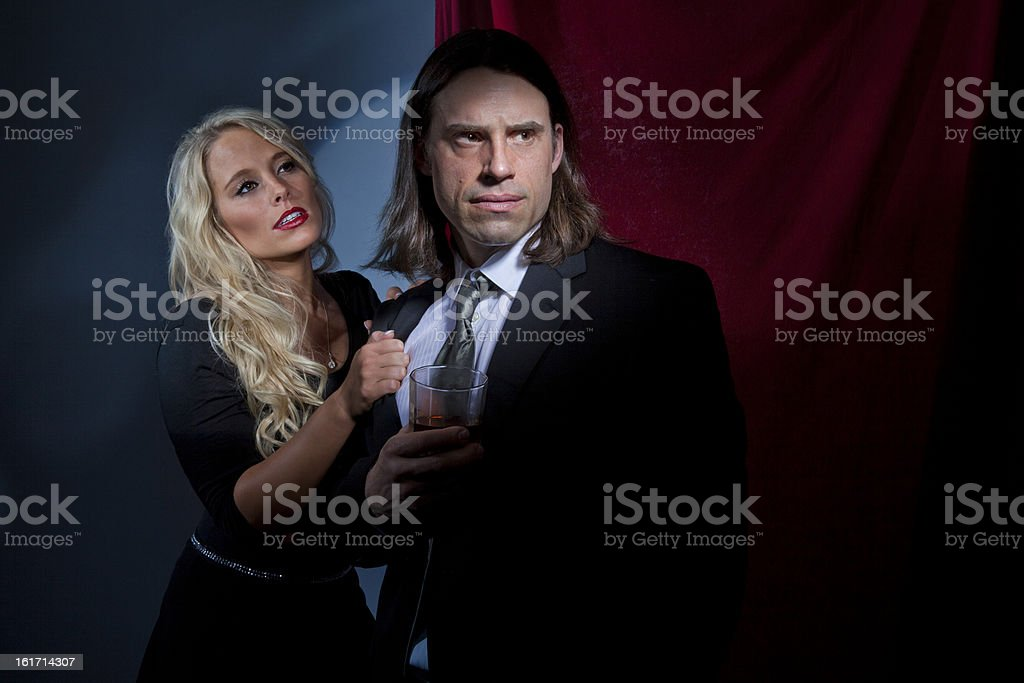 Couple Arguing In Nightclub royalty-free stock photo