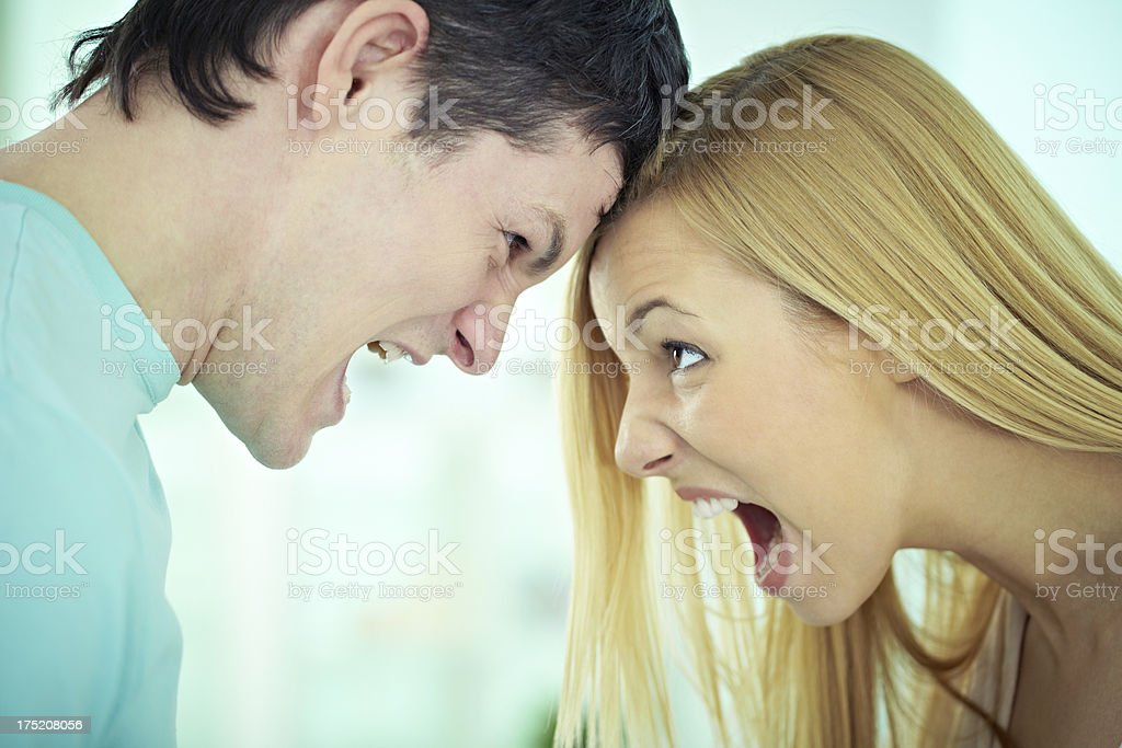 Couple arguing royalty-free stock photo