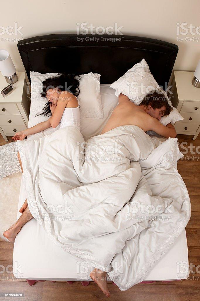 Couple asleep stock photo