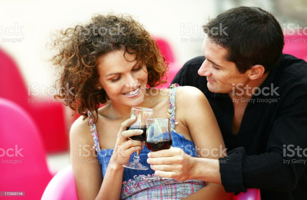 Couple at a Bistro royalty-free stock photo
