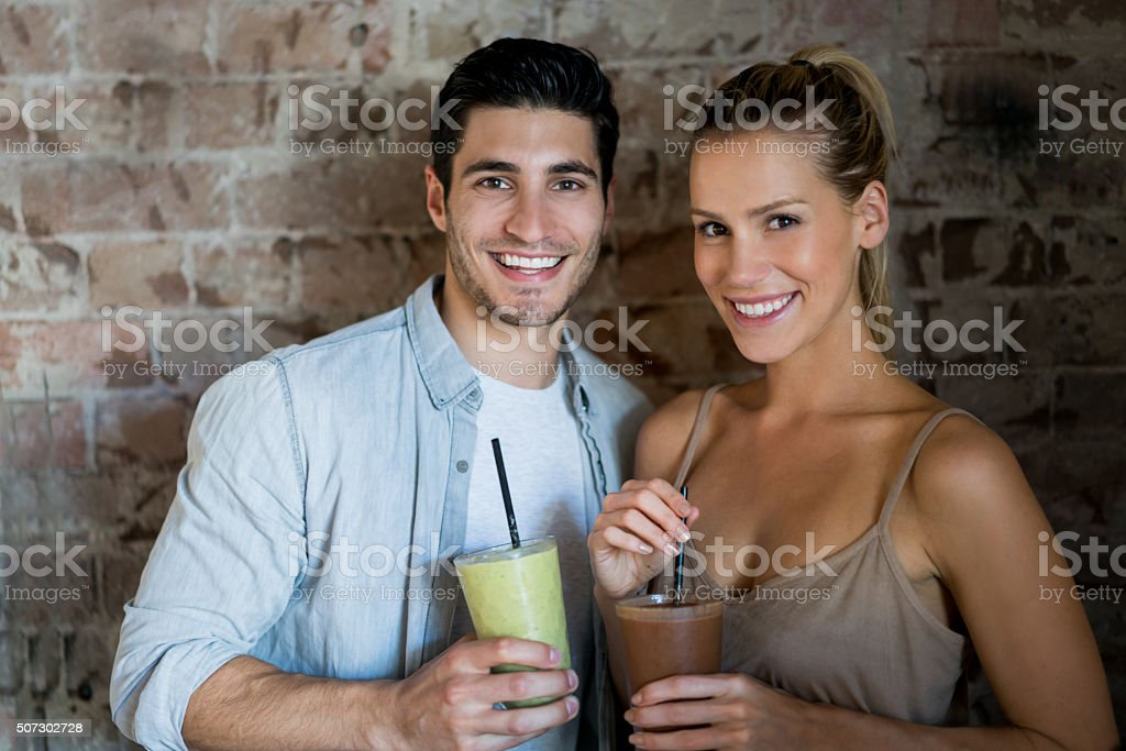Couple at a cafe on a date stock photo