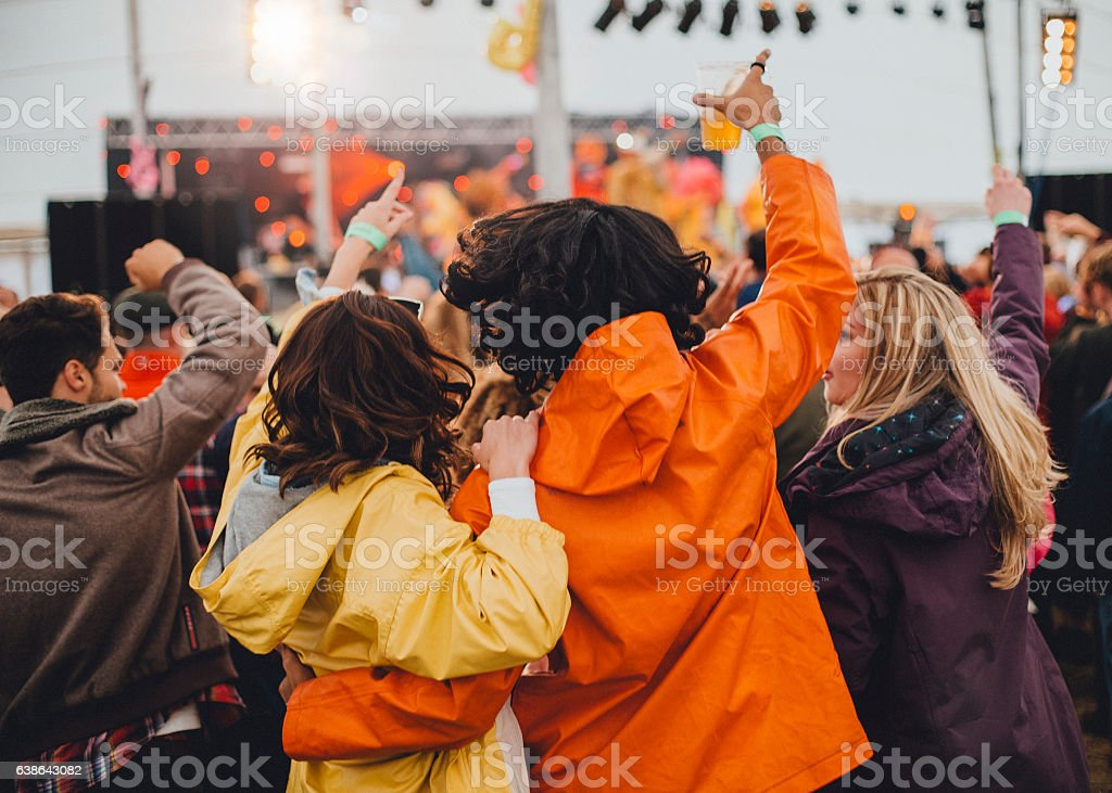 Couple at a Festival stock photo