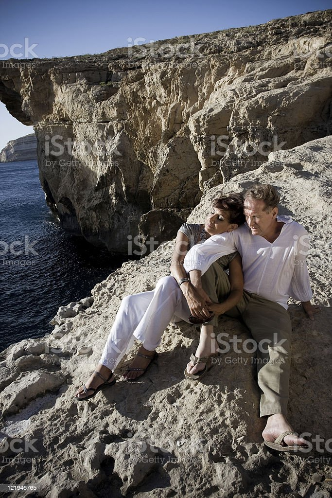 Couple at Azure Window royalty-free stock photo