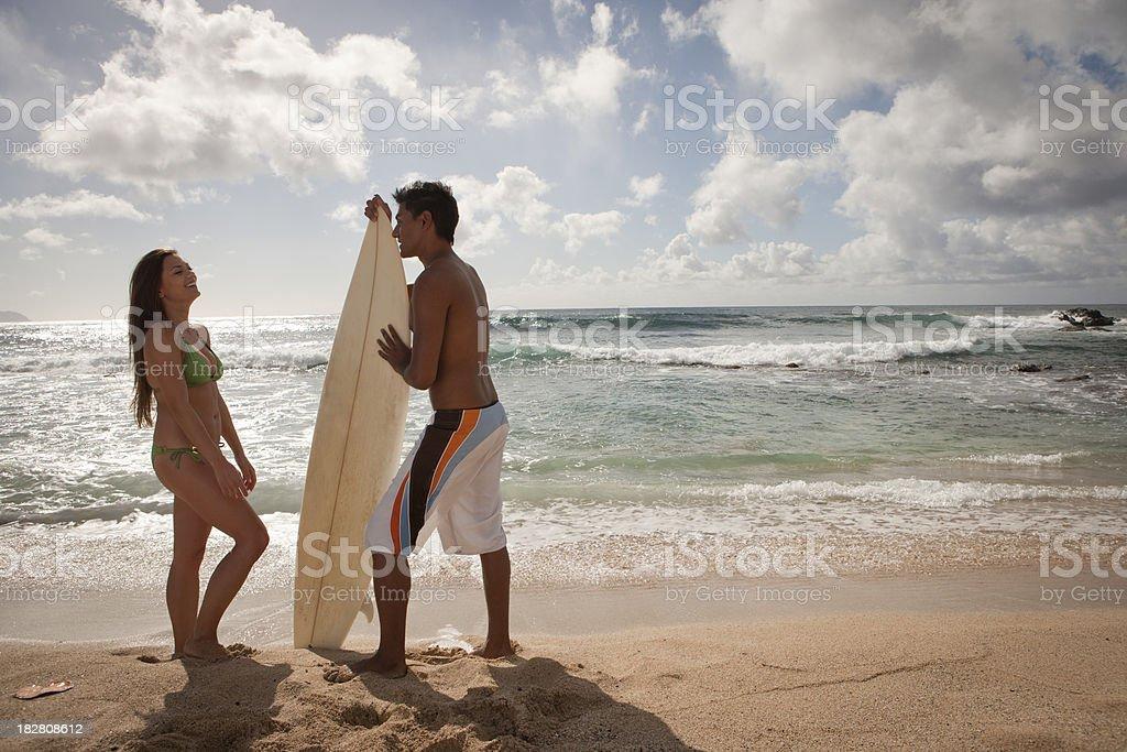 Couple at Beach royalty-free stock photo