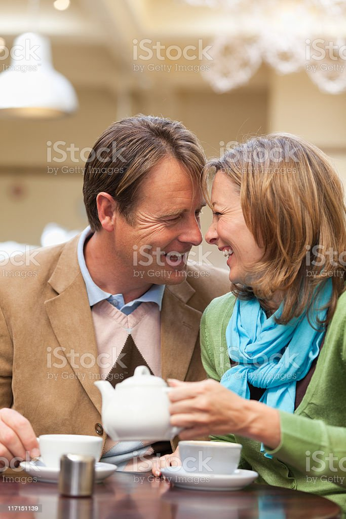 couple at cafe table royalty-free stock photo