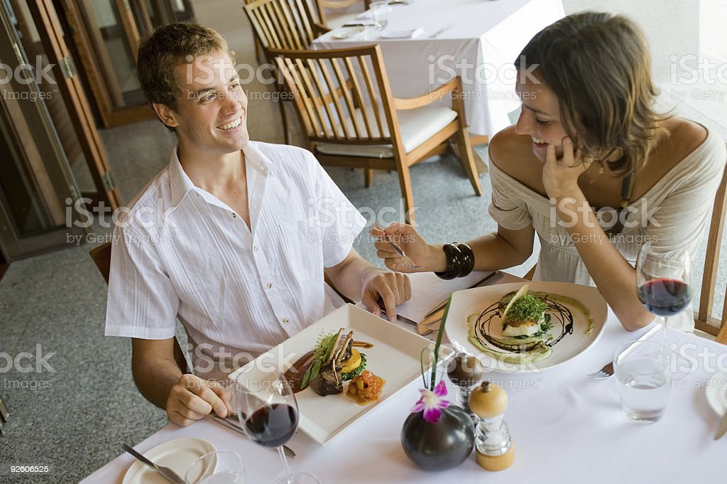 Couple At Dinner royalty-free stock photo