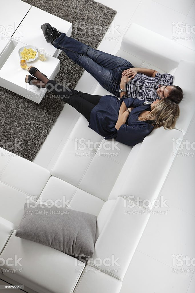 Couple At Home royalty-free stock photo