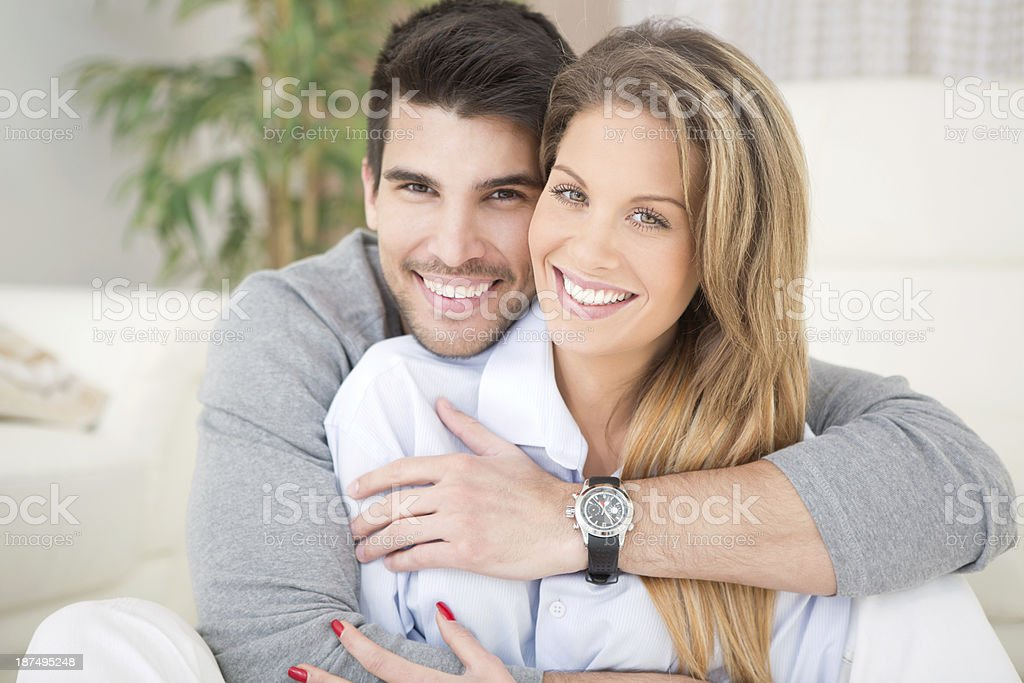 Couple at home. royalty-free stock photo