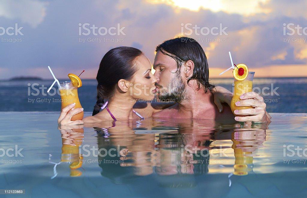 Couple at Maldives royalty-free stock photo