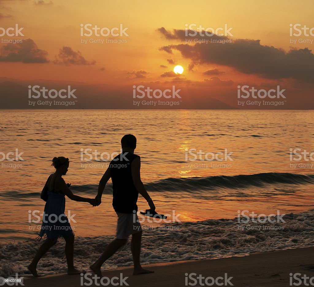 Couple at sunset royalty-free stock photo