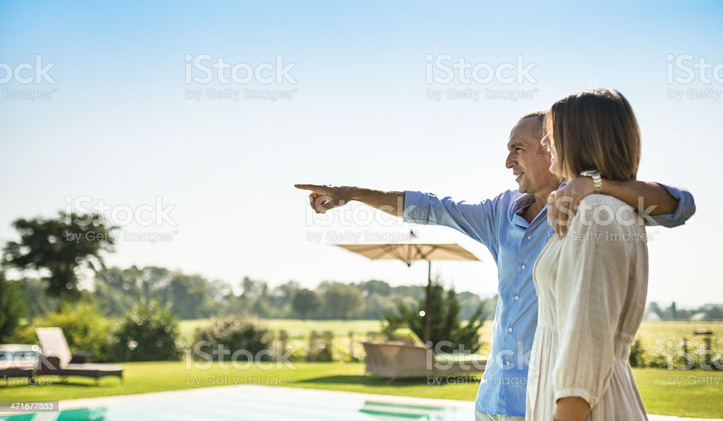 couple at the resort royalty-free stock photo